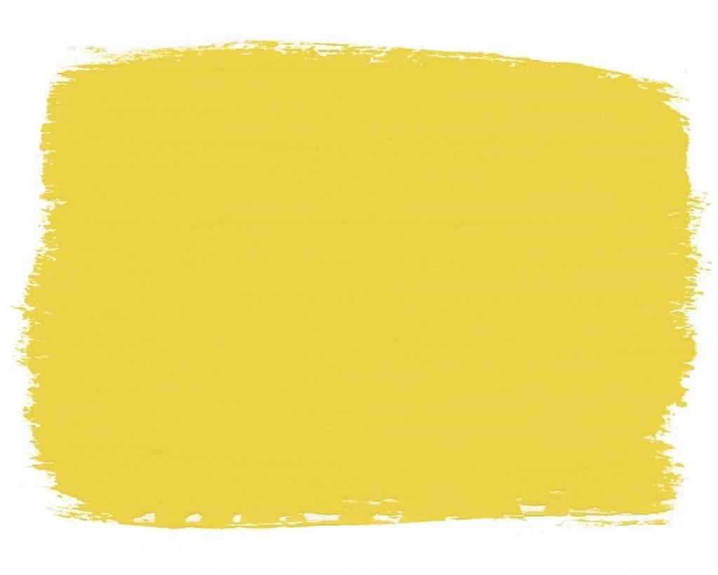 Farbmuster der English Yellow Chalk Paint™ Möbelfarbe von Annie Sloan, ein helles, traditionelles Gelb