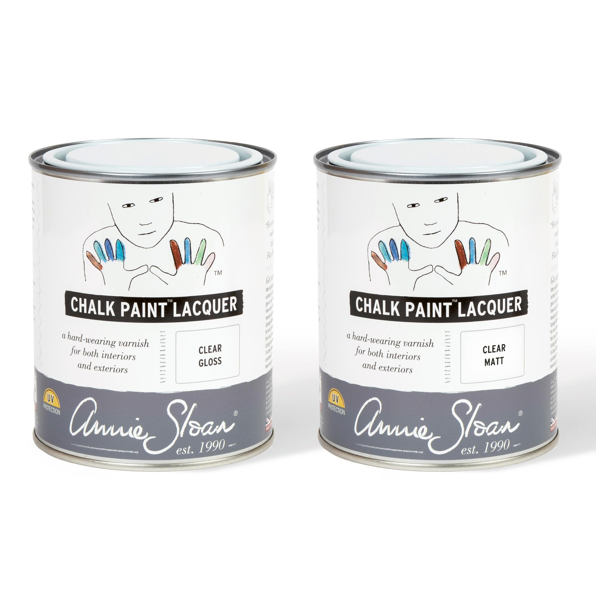 Annie Sloan Chalk Paint® Lacquer 750ml tin in Matt and Gloss