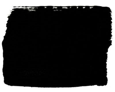 Paint Swatch of Athenian Black Chalk Paint® furniture paint by Annie Sloan, a true black