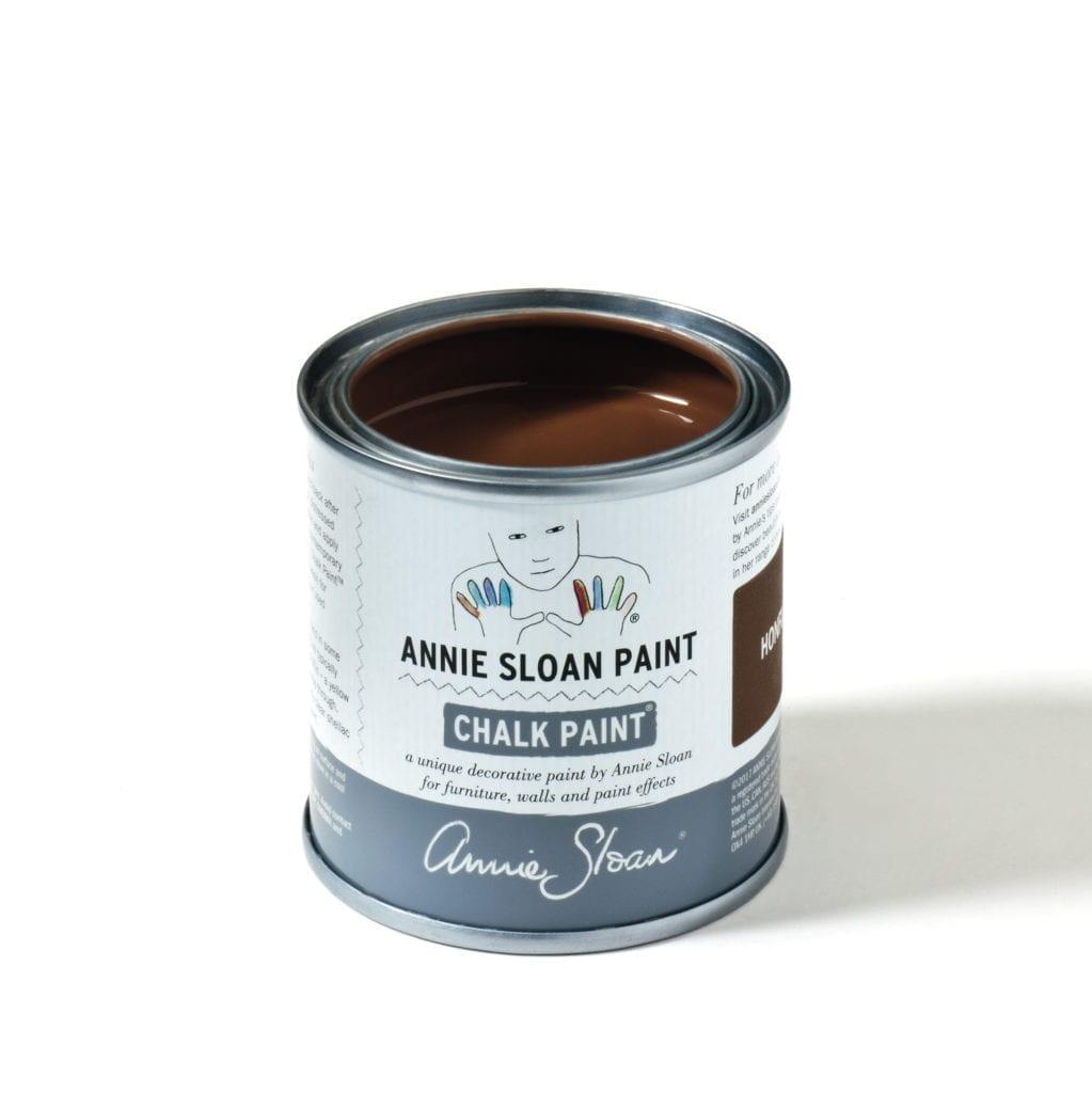 120ml tin of Honfleur Chalk Paint® furniture paint by Annie Sloan, a rich brown