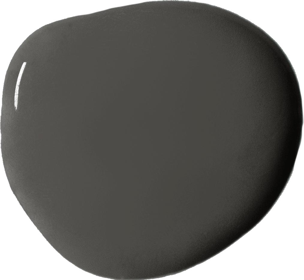 Annie Sloan's Graphite grey wall paint blob swatch